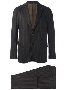 pinstripe formal suit Lardini