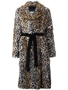 шуба с леопардовым принтом Meteo By Yves Salomon