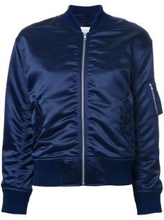 ruched detail bomber jacket En Route