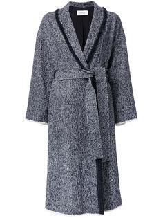 tweed single breasted coat En Route
