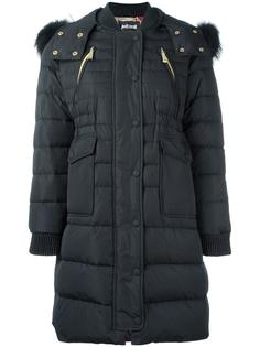 пуховое пальто с капюшоном Just Cavalli