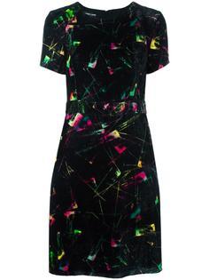 жаккардовое платье с бархатным эффектом Emporio Armani