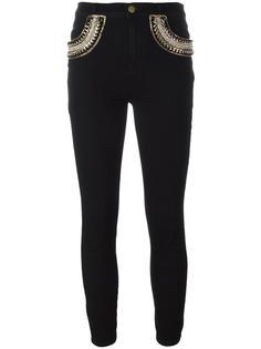 embellished pocket skinny jeans  Amen