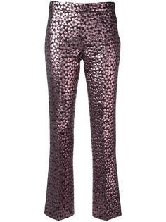 брюки прямого кроя с отделкой металлик Giamba