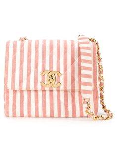 полосатая сумка на плечо Chanel Vintage