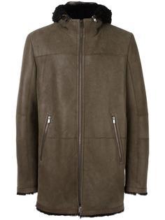 zipped hooded coat Drome