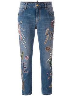 embellished cropped jeans  Amen