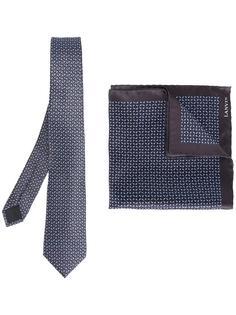 галстук и карманный платок с рисунком Lanvin
