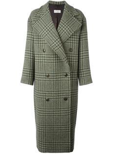 двубортное пальто в клетку Alberto Biani