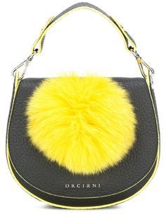 сумка на плечо с помпоном Orciani