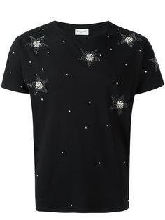футболка со звездами Saint Laurent
