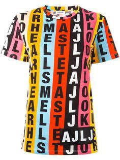letters print shortsleeved sweatshirt Au Jour Le Jour