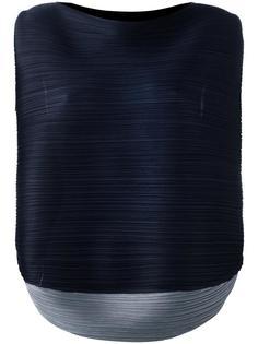 плиссированная блузка без рукавов  Pleats Please By Issey Miyake