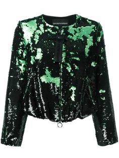 укороченная куртка с пайетками Emporio Armani