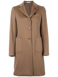 single breasted coat Lardini