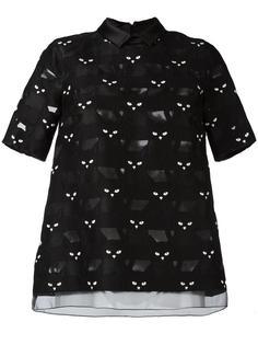 блузка с принтом кошек Giamba
