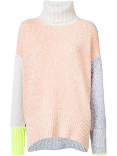 colour block high neck jumper Tomorrowland