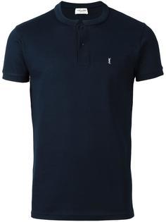 футболка-поло с воротником-стойкой Saint Laurent