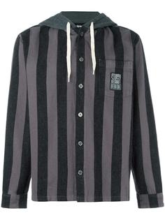 buttoned striped hoodie Stussy