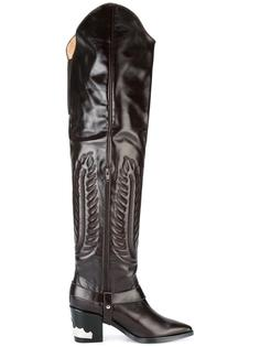 embossed thigh high boots Toga