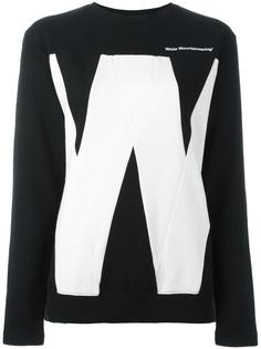 'w' print sweatshirt White Mountaineering
