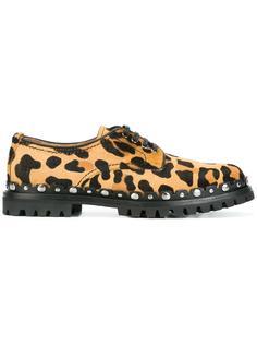 animal print Derby shoes Car Shoe