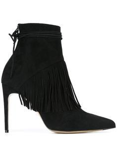 'Sahar' fringed ankle booties Bionda Castana