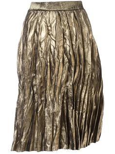 плиссированная юбка Nude