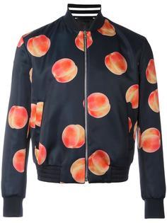 куртка-бомбер с принтом персиков Paul Smith