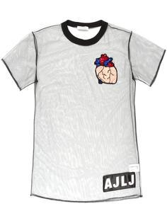 heart patch sheer T-shirt Au Jour Le Jour