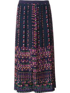 pleated floral print skirt Vanessa Bruno