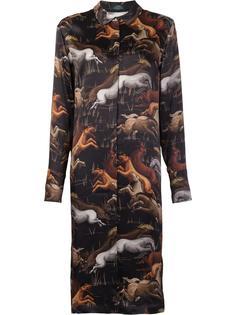 'Black Horse' shirt dress Alena Akhmadullina