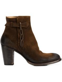 zipped ankle boots Silvano Sassetti