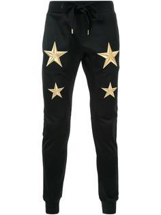 брюки с вышивкой в виде звезд DressCamp