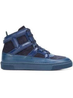 colour block hi-top sneakers Louis Leeman