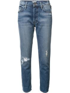distressed boyfriend jeans Mother