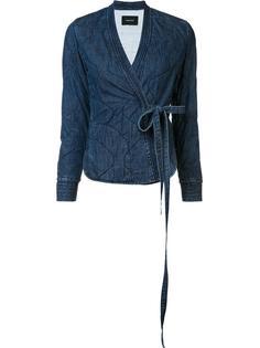 tie waist denim jacket Rachel Comey