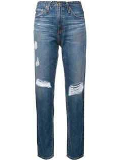 distressed straight leg trousers Ag Jeans