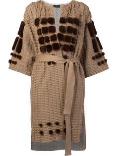 collarless belted cardi-coat Alena Akhmadullina