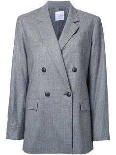 двубортное пальто в клетку Cityshop