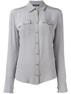 рубашка с косым воротником Balmain