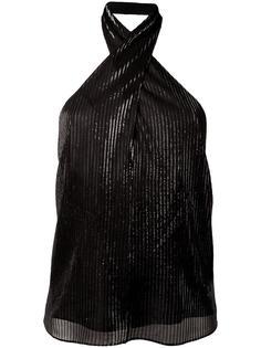 wrap neck halter top Rosetta Getty