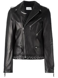 piercing detail biker jacket Mugler
