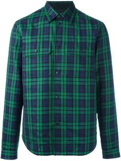 chest pockets plaid shirt Burberry Runway