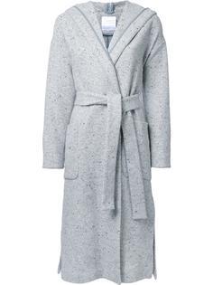 длинное пальто с поясом Cityshop