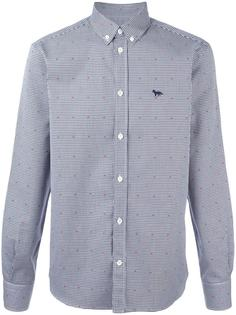 jacquard button down shirt Maison Kitsuné