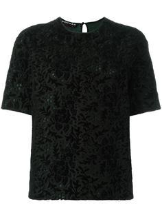 футболка с вышивкой Rochas