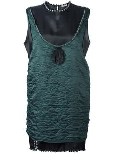 декорированное платье с жатым эффектом Nº21