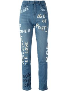 'Painted' straight leg jeans Each X Other