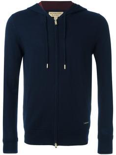 zipped knit hoodie Burberry
